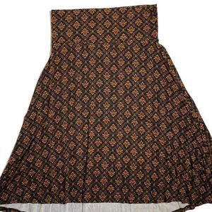 Medium Azure A-line Skirt with Yoga Wait Band!